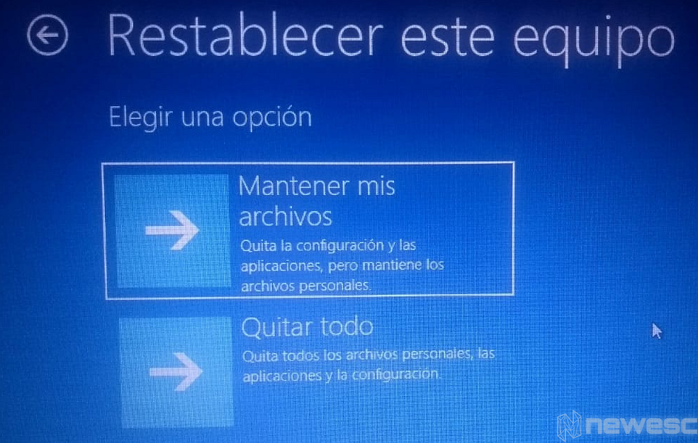 Formatear laptop Windows 10 con Menú Inicio3 1