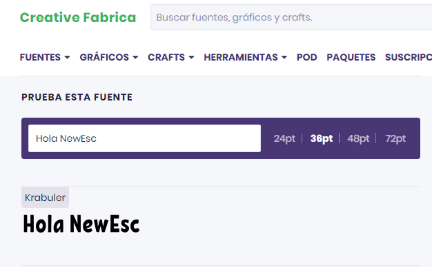 Fuentes Gratis Creative Fabrica