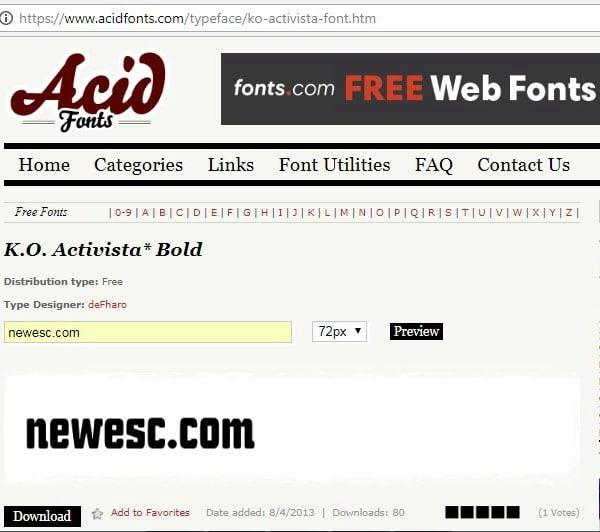Fuentes gratis en acid fonts
