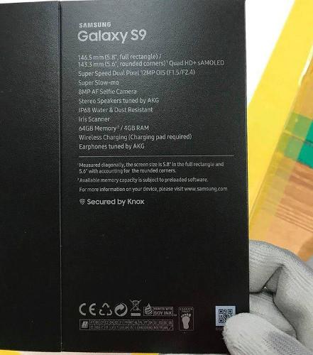 Galaxy-S9 caja del producto