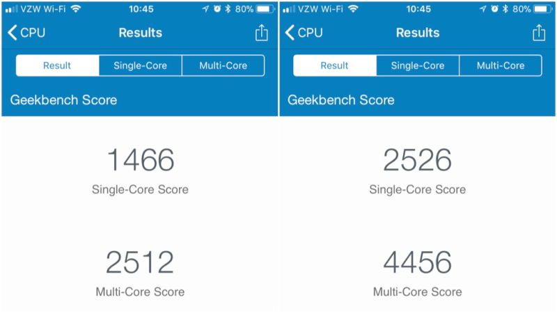 GeekBench batería remplazada iPhone 6S ios 11