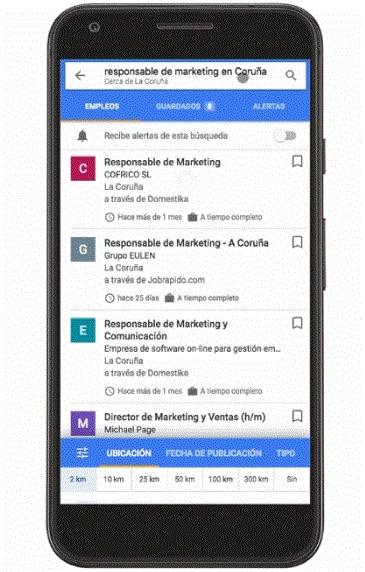 Google buscador de empleo móvil