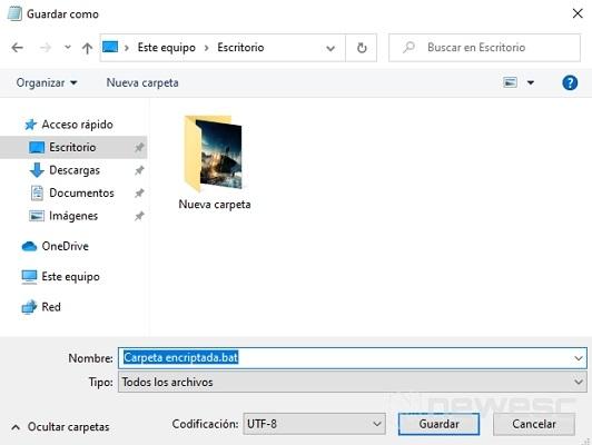 Guardar ejecutable para poner contraseña en Windows 10