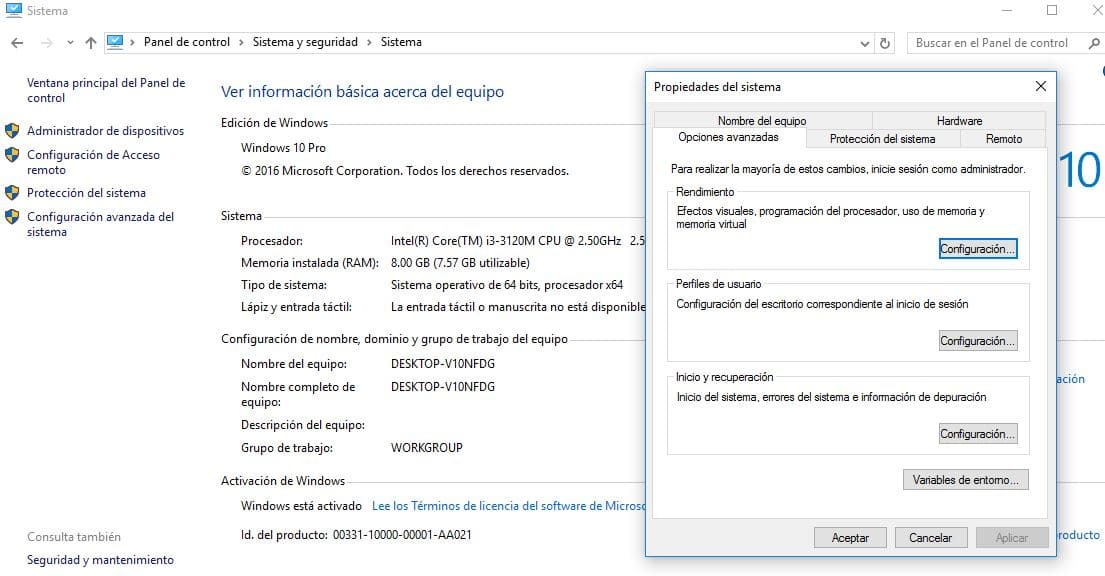 reducir efectos visuales Windows 10 Optimizar PC