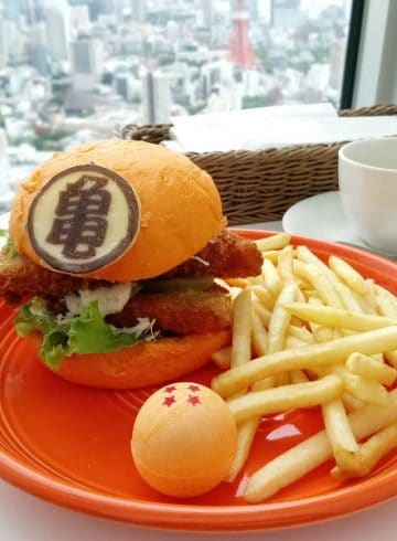 Hamburguesa Dragon Ball Japón