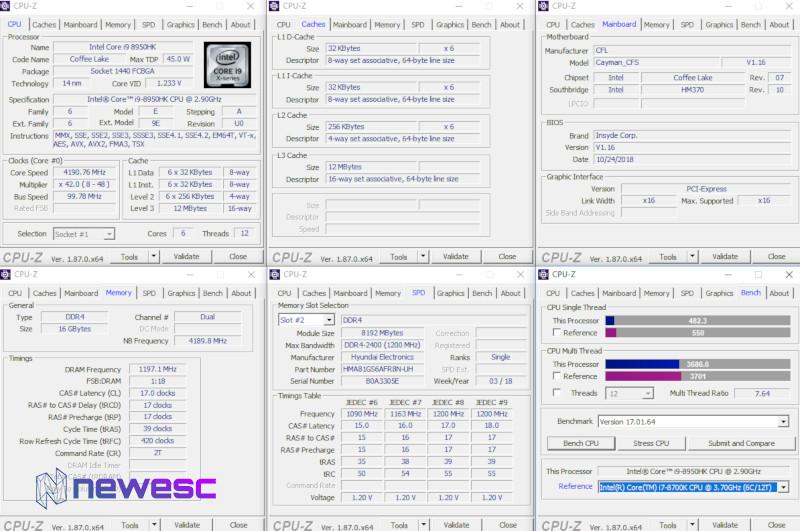 Helios 500 - CPUZ