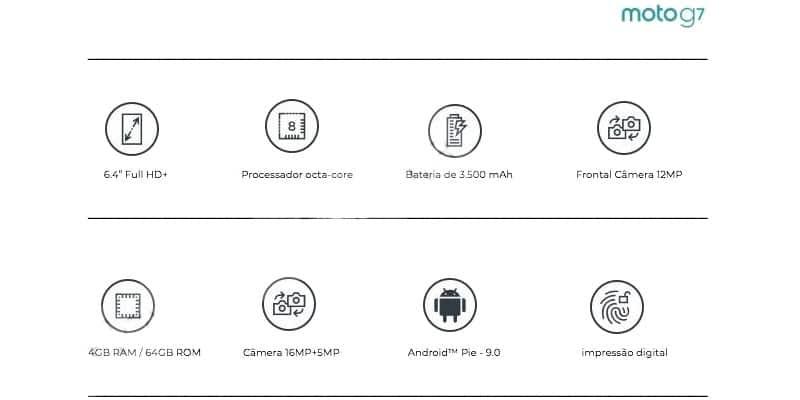 Hoja de especificaciones Moto G7