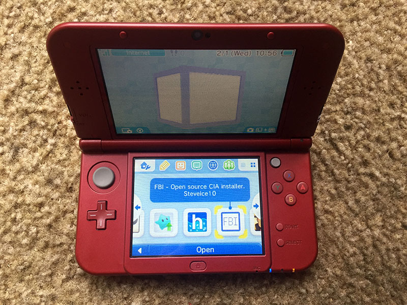 Homebrew hack nintendo 3ds