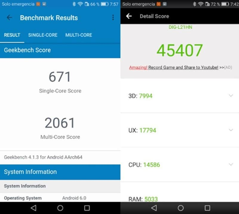 Honor 6c antutu benchmarks