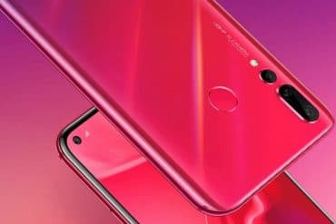 Huawei Nova 4 Honey Red diseño conceptual