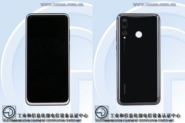 Huawei Nova 4 diseño en TENAA