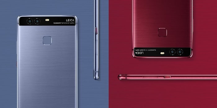 Huawei P9 Blue y Red