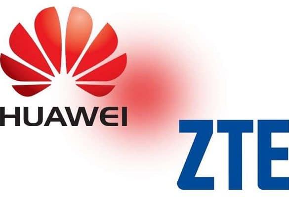 Huawei y ZTE logos