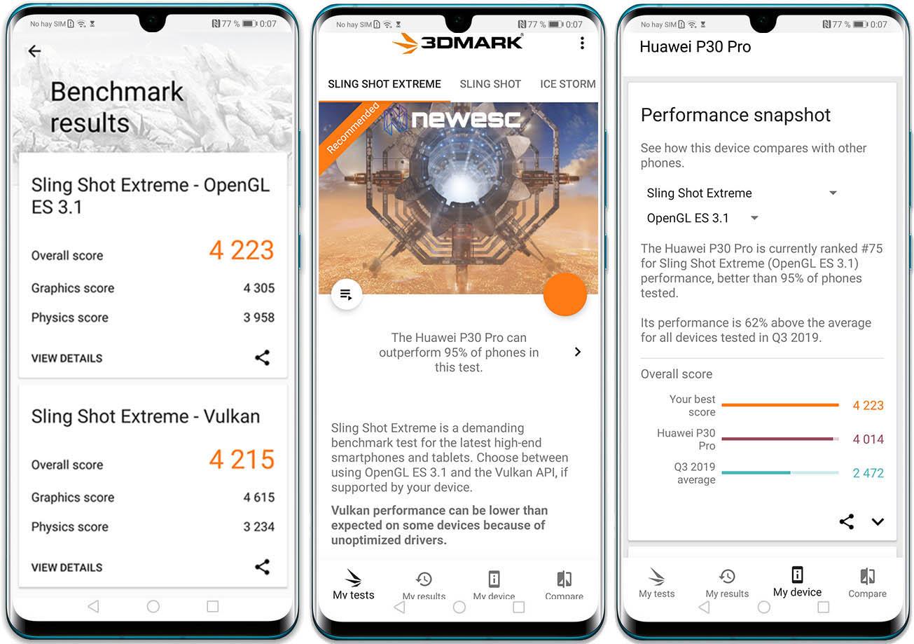 Huawei P30PRO Tests3dmark