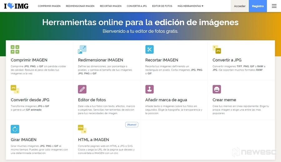 I Love IMG Editor de imágenes para PC