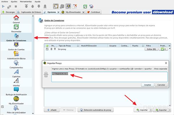 Descargar de MEGA sin límite en MEGA con JDownloader.