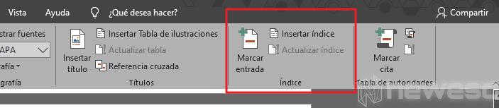 Insertar un índice que se actualiza de forma automática 001