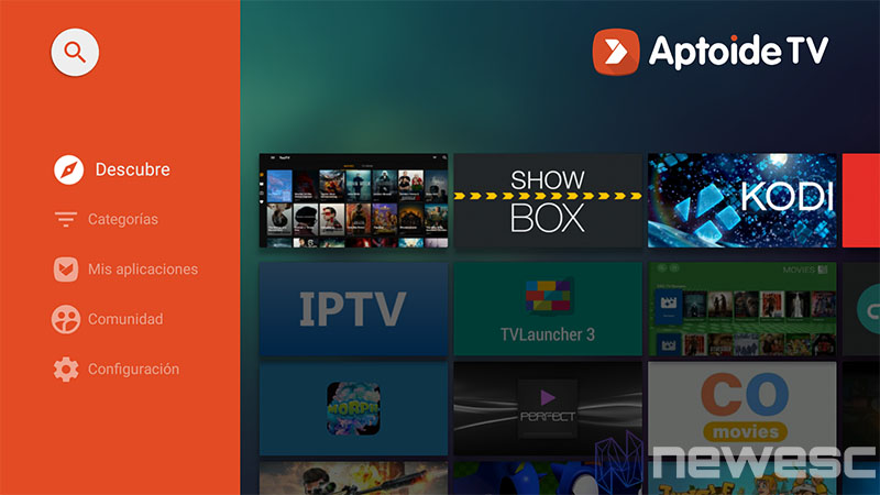 Instalar APK Fire Stick Downloader Aptoide TV