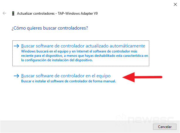 Instalar drivers Windows 10 de manera manual