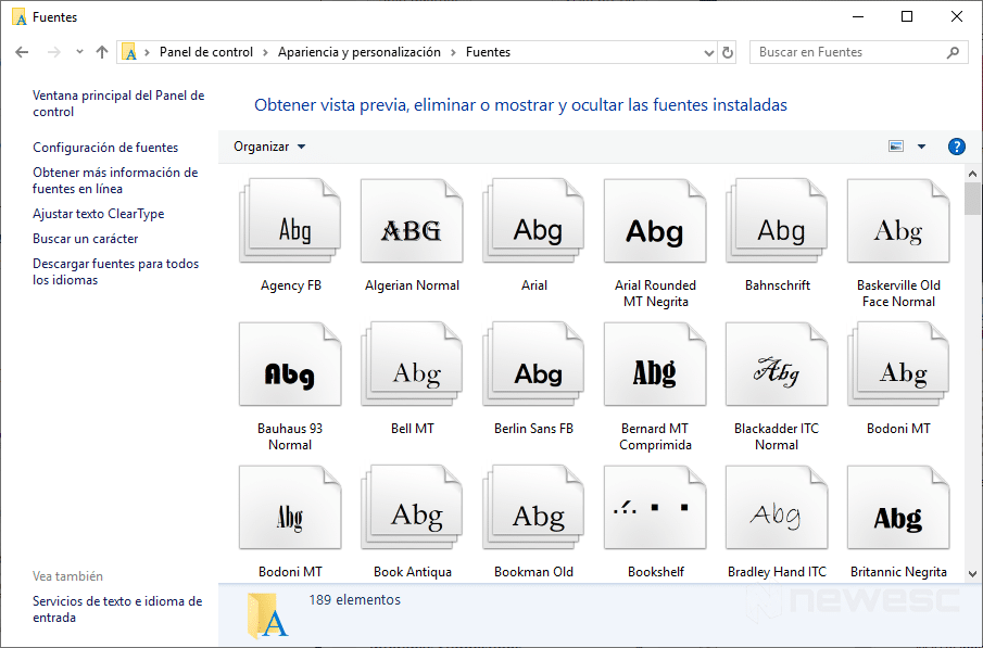 Instalar fuentes en Windows 10 - Arrastrar y soltar 3