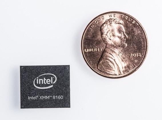 Intel XMM 8160 tamaño