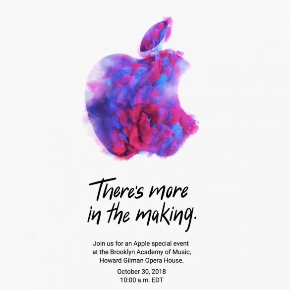 Invitación Evento Apple Octubre 2018
