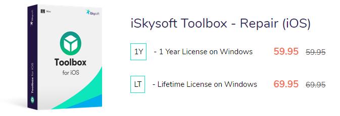 Iskysoft Toolbox Repair precio