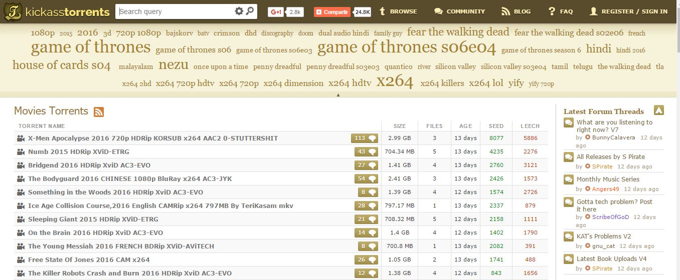 KickAssTorents paginas para descargar torrents