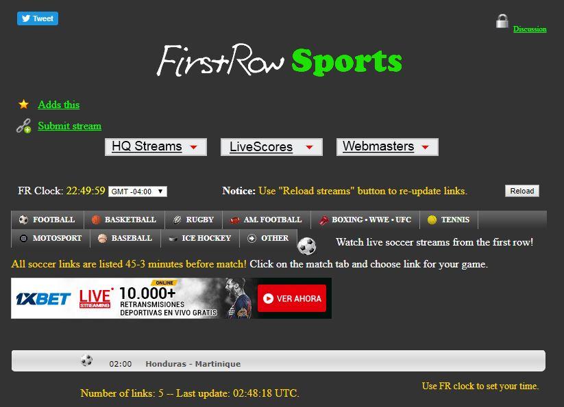 Las Mejores Paginas para ver Fútbol Online Gratis FirstRow Sports