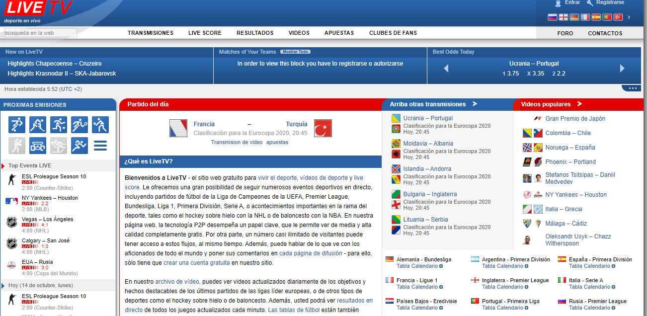 Las Mejores Paginas para ver Fútbol Online Gratis LiveTV