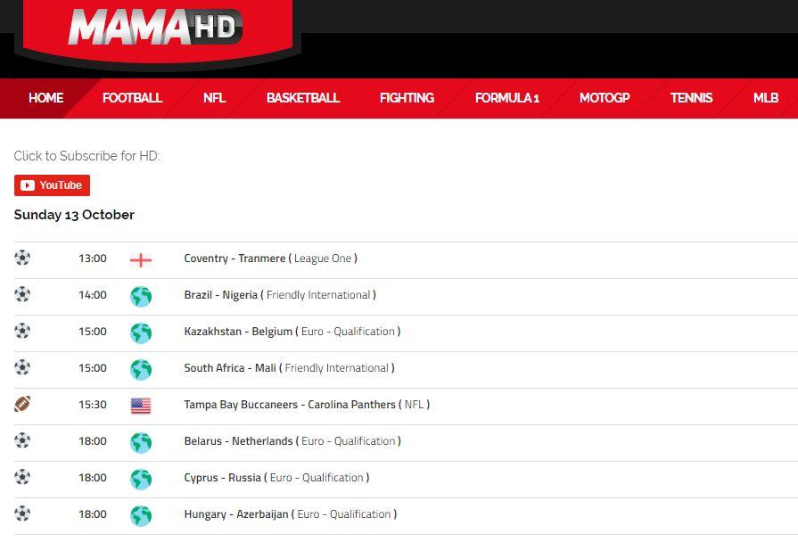 Las Mejores Paginas para ver Fútbol Online Gratis MamaHD