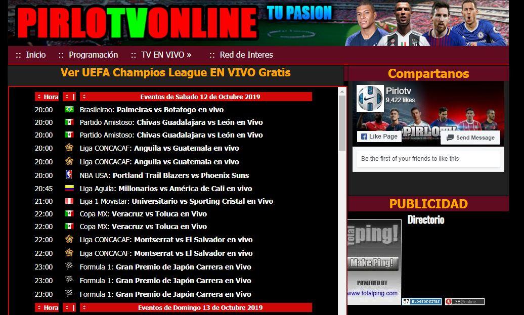 Las Mejores Paginas para ver Fútbol Online Gratis Pirlotv