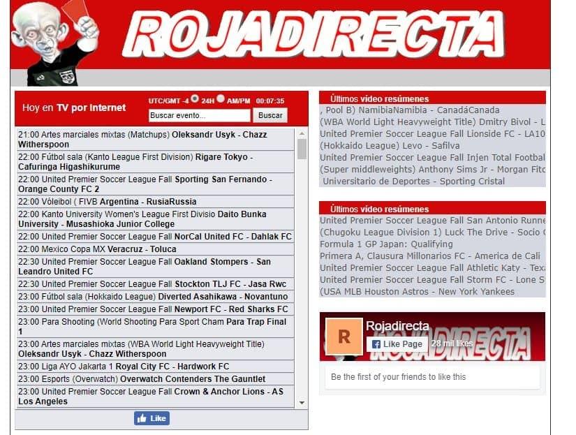 Las Mejores Paginas para ver Fútbol Online Gratis RojaDirecta