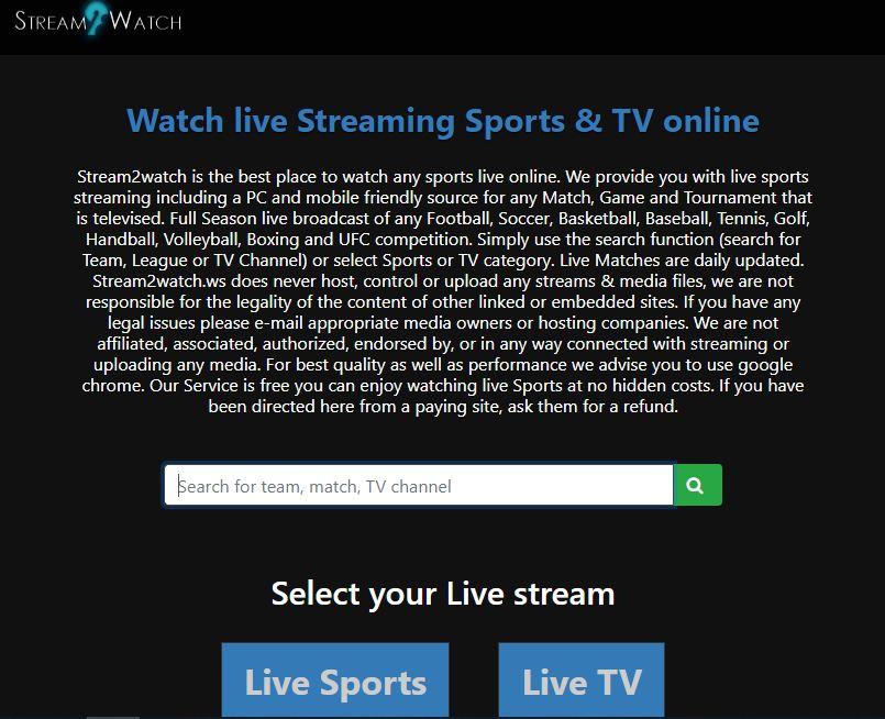 Las Mejores Paginas para ver Fútbol Online Gratis Stream2Watch