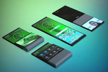 Lenovo Motorola Móvil Plegable diferentes planos