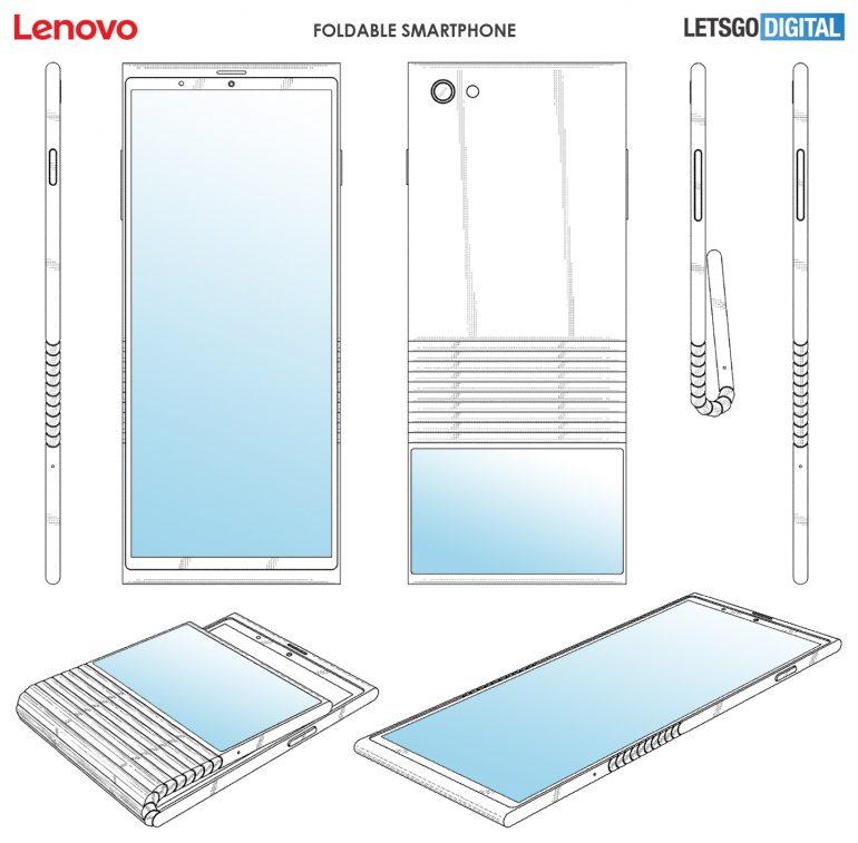 Lenovo Motorola Móvil Plegable patente