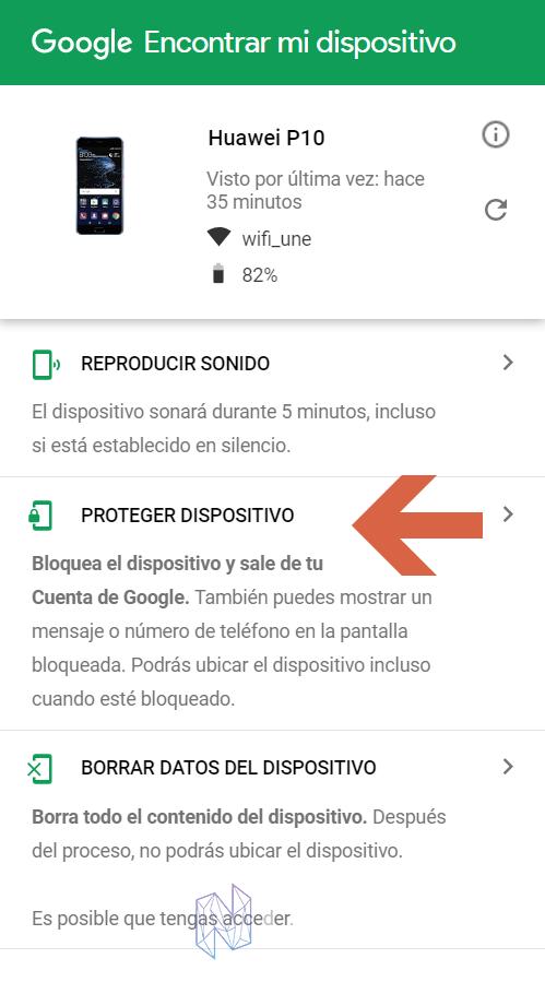 Localizar y bloquear un Android Robado