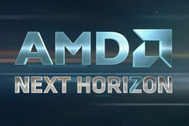 Logo del evento de AMD llamado Next Horizon