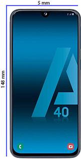 Móvil pequeño Samsung A40
