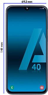 Móviles pequeños Samsung A40