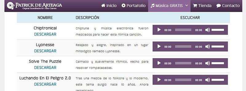 Música sin Copyright Patrick de Arteaga