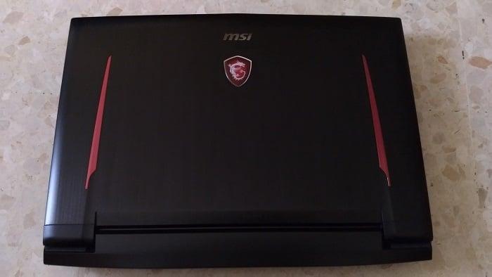 MSI GT73VR 7RF Titan Pro - tapa