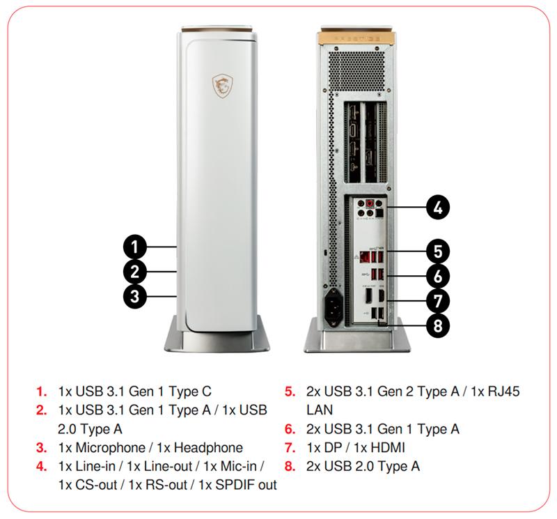 MSI PRESTIGE P100 esquema conexiones