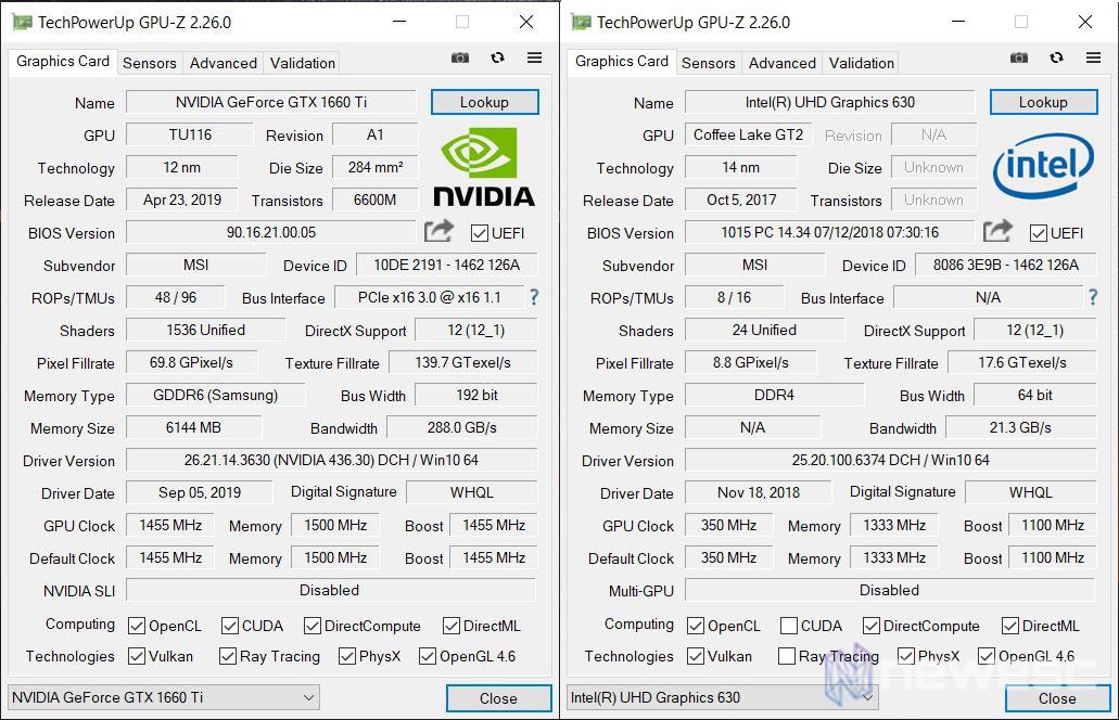 MSI GL63 8SD GPUZ