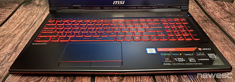 MSI GL63 8SD Teclado