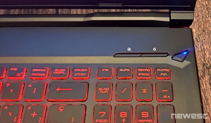 MSI GL63 8SD botones