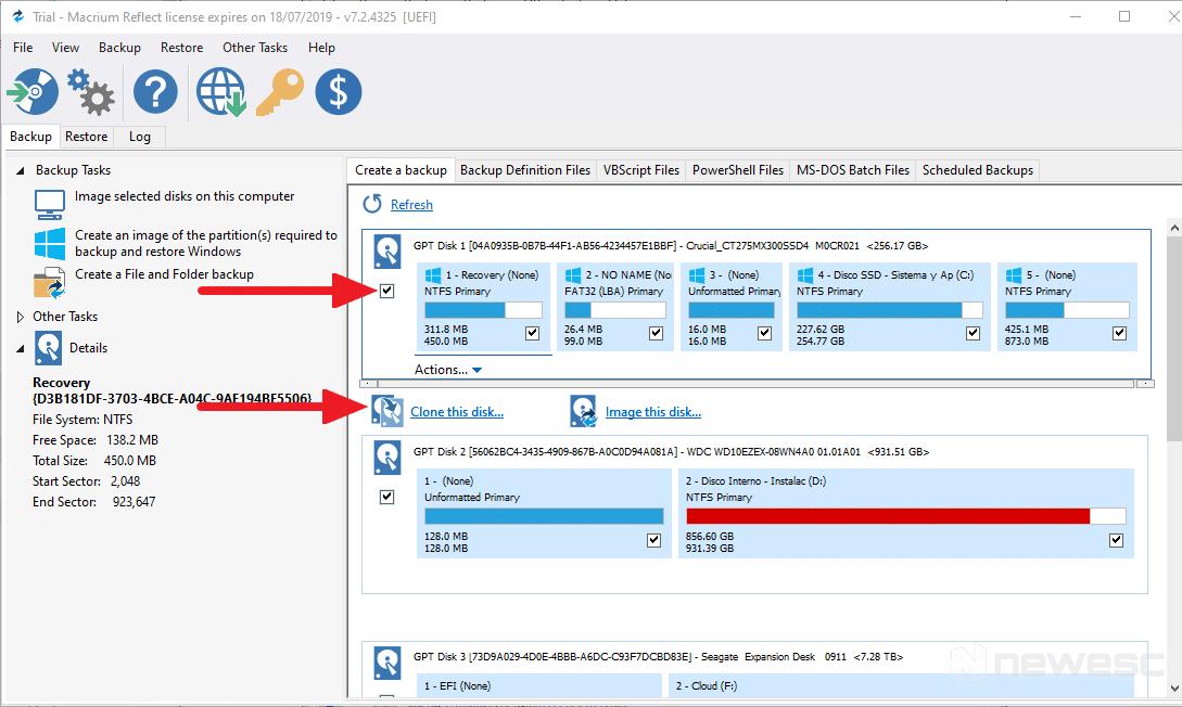 Macrium Reflect - Clonar disco duro en Windows 10 001