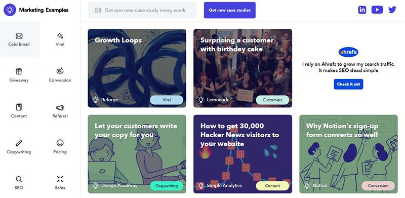 Marketing Examples newsletter