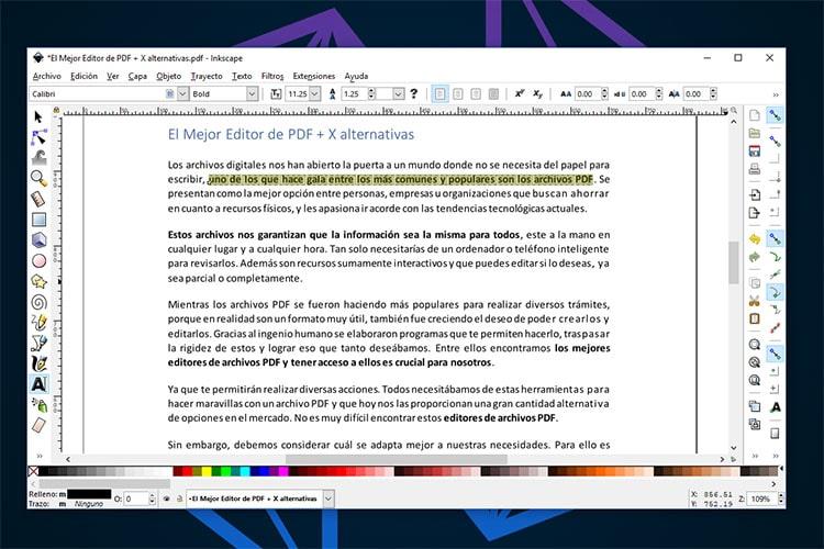 Mejor Editor PDF InkScape