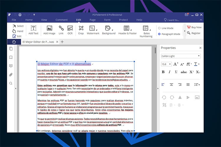 Mejor Editor PDF PDF Element 6